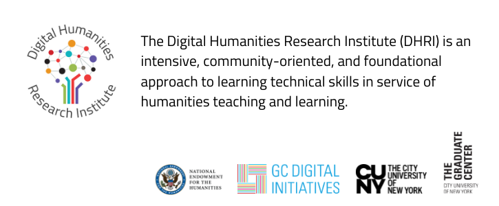 Call for Participation: Digital Humanities Research Institute 2021–22