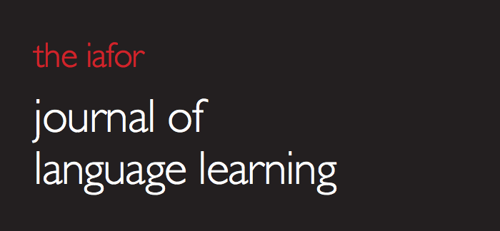Front cover: IAFOR Journal of Language Learning