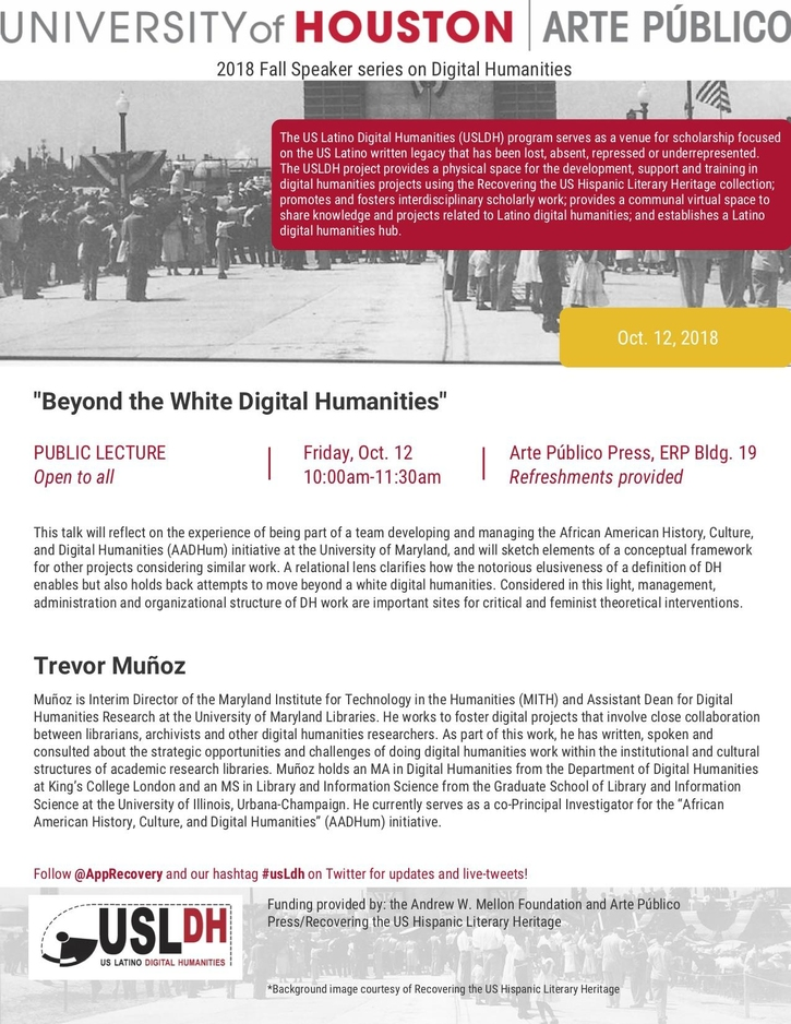 Public Lecture: Beyond the White Digital Humanities