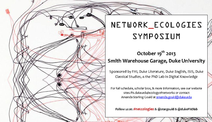 Network_Ecologies Symposium, October 19 2013, Duke University