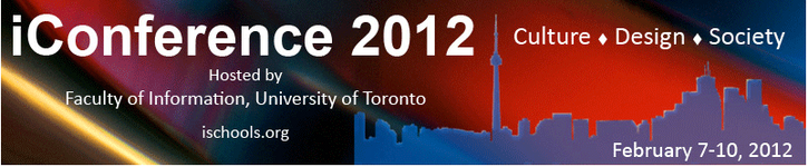 call for submissions: iConference 2012, Toronto