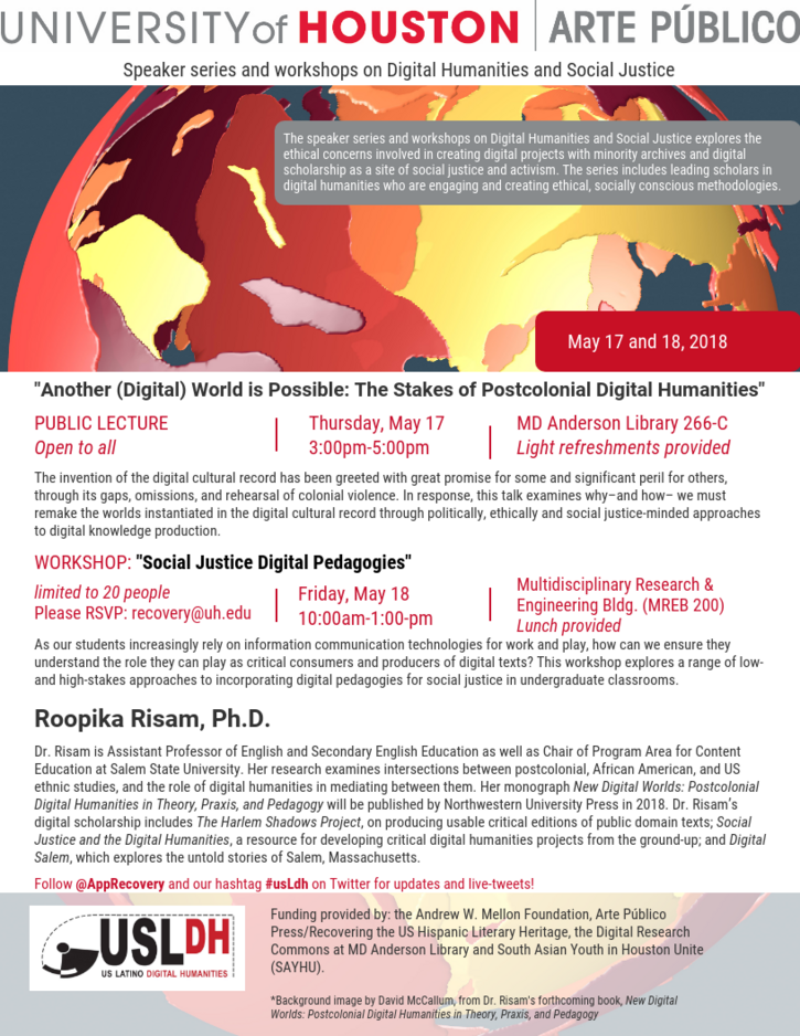 Another (Digital) World is Possible: The Stakes of Postcolonial Digital Humanities