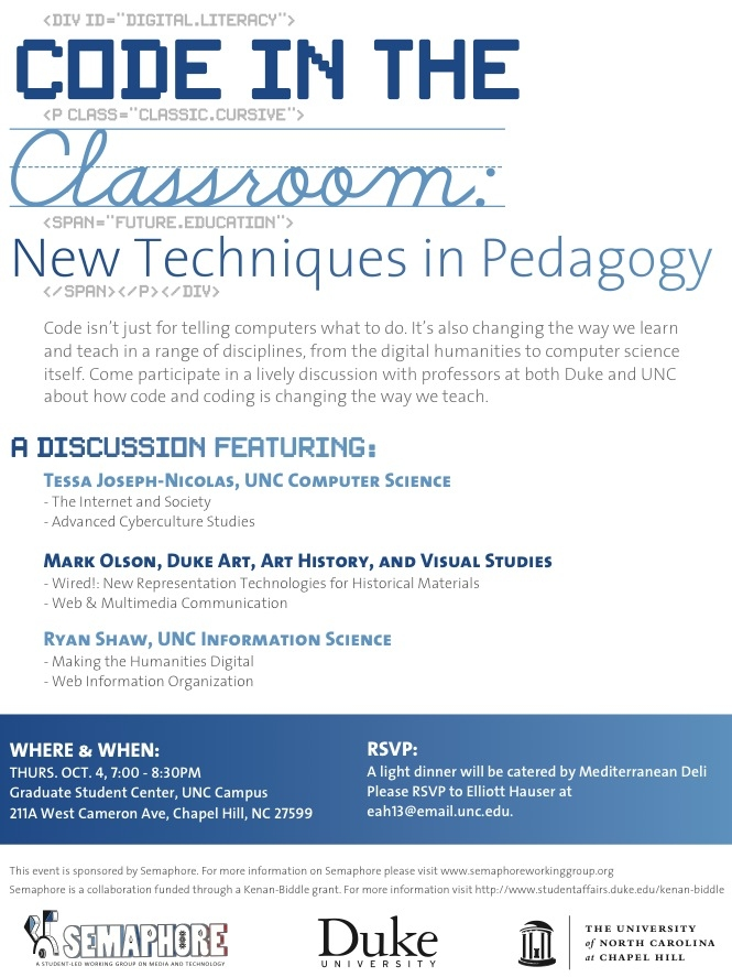 Code in the Classroom: A Panel Discussion
