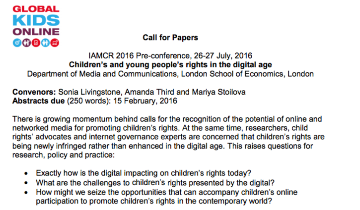 Children's and young people's rights in the digital age