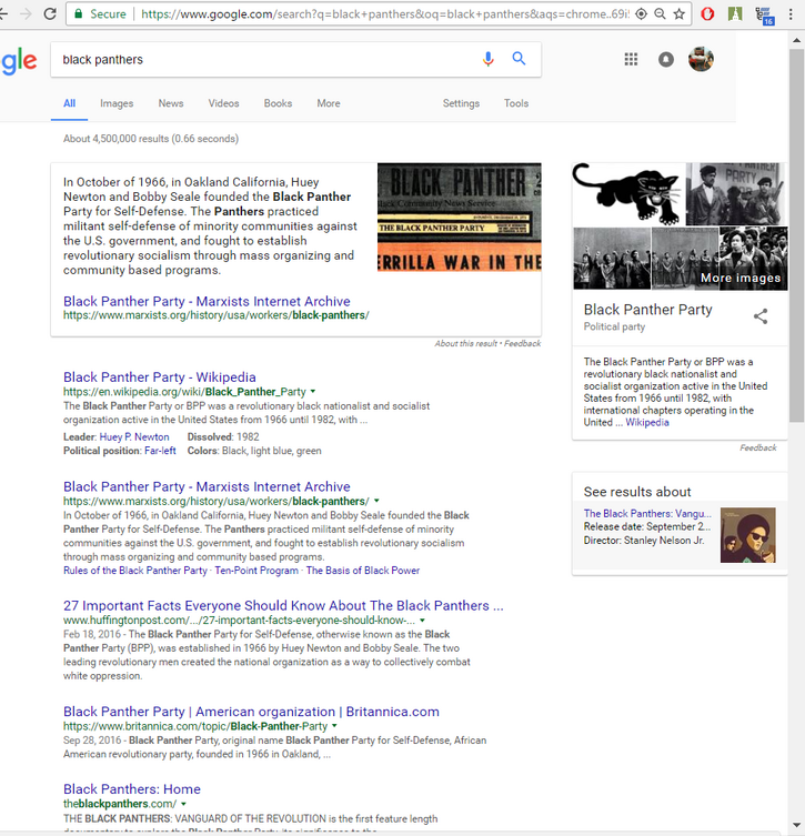 The Black Panther Party and Algorithms