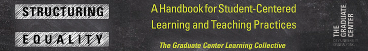 "Banner Announcing ""Structuring Equality: A Handbook for Student-Centered Learning and Teaching Practices"""