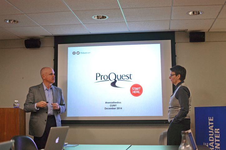 "Recap of F.I. Open Session ""How ProQuest Fits in with the Changing Dissertation Landscape"""
