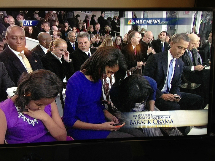 The First Family and Their Cell Phones