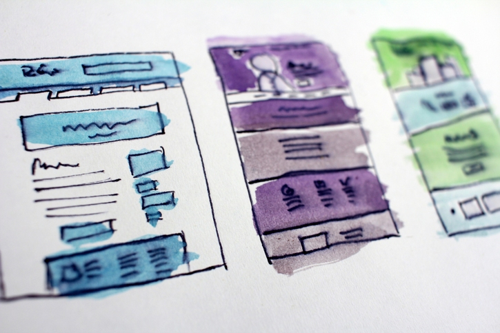 colorful sketches of text layouts