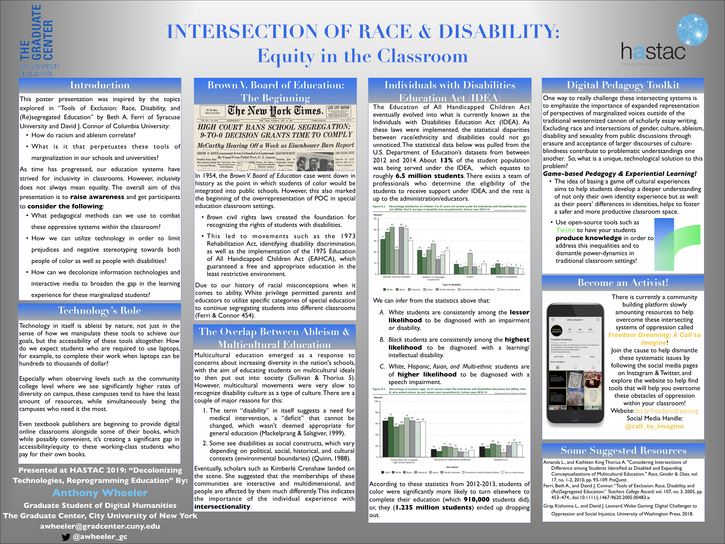 Intersection of Race & Disability: Equity in the Classroom