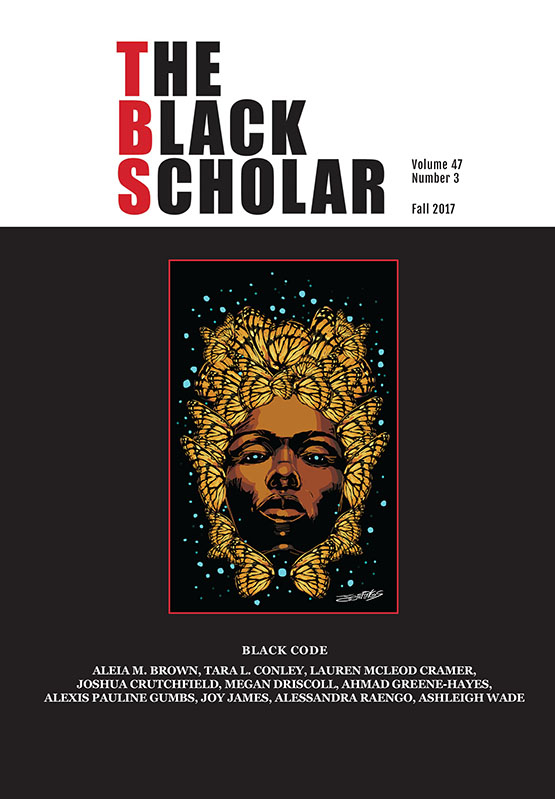 The Black Scholar, Volume 27, Number 3, Fall 2017, Cover for Black Code
