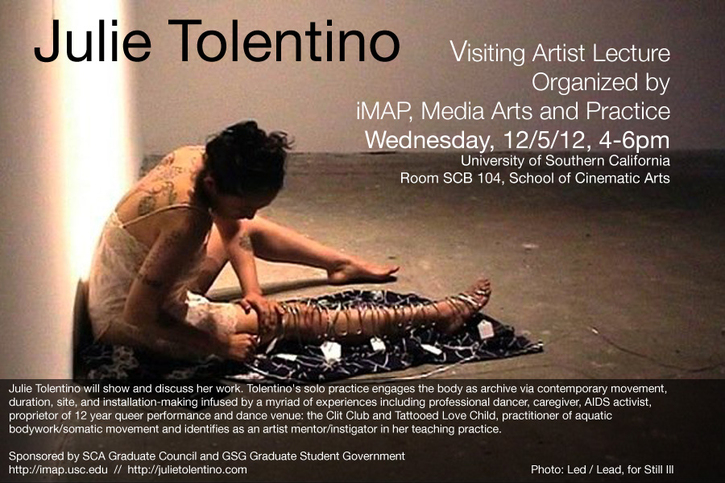 Julie Tolentino Visiting Artist Lecture at USC organized by iMAP