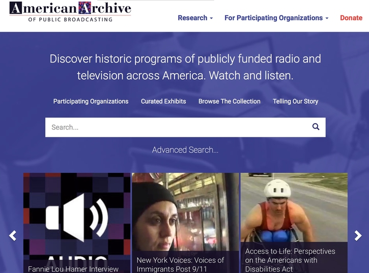 "Spring 2017 Digital Project Review No.3: Robert Cassanello's review of ""The American Archive of Public Broadcasting"""