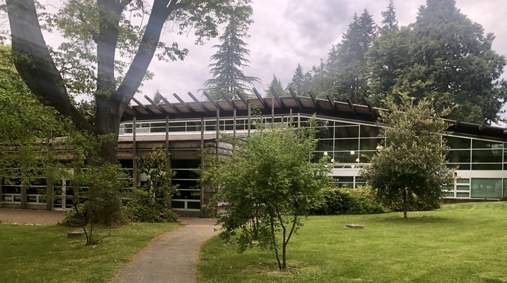 Photo of the First Nations Longhouse at the University of British Columbia