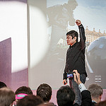 Collaborative documentation at MozFest including Joi Ito's call to maker revolution