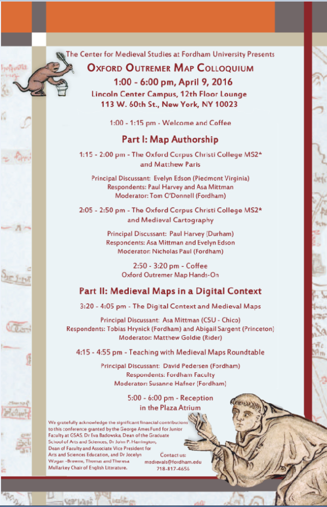 An After-Action Report of Fordham Medieval Studies' Oxford Outremer Map Colloquium: Digital Humanities, and the Lure of Parchment