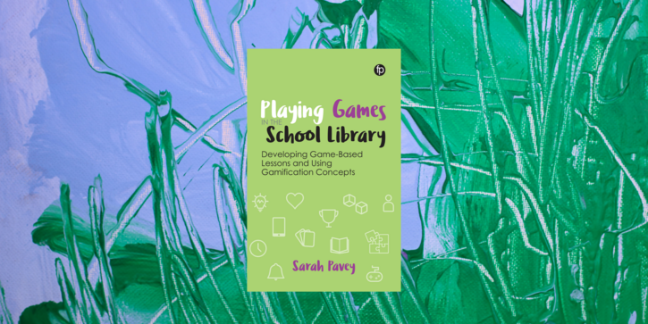 Image showing front cover of Playing Games in the School Library