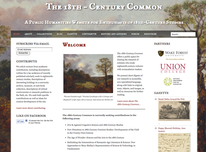 Touring The (Launched) 18th-Century Common