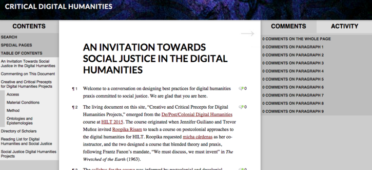 An Invitation Towards Social Justice in the Digital Humanities