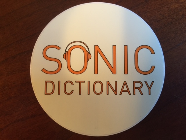 Sonic Dictionary logo sticker