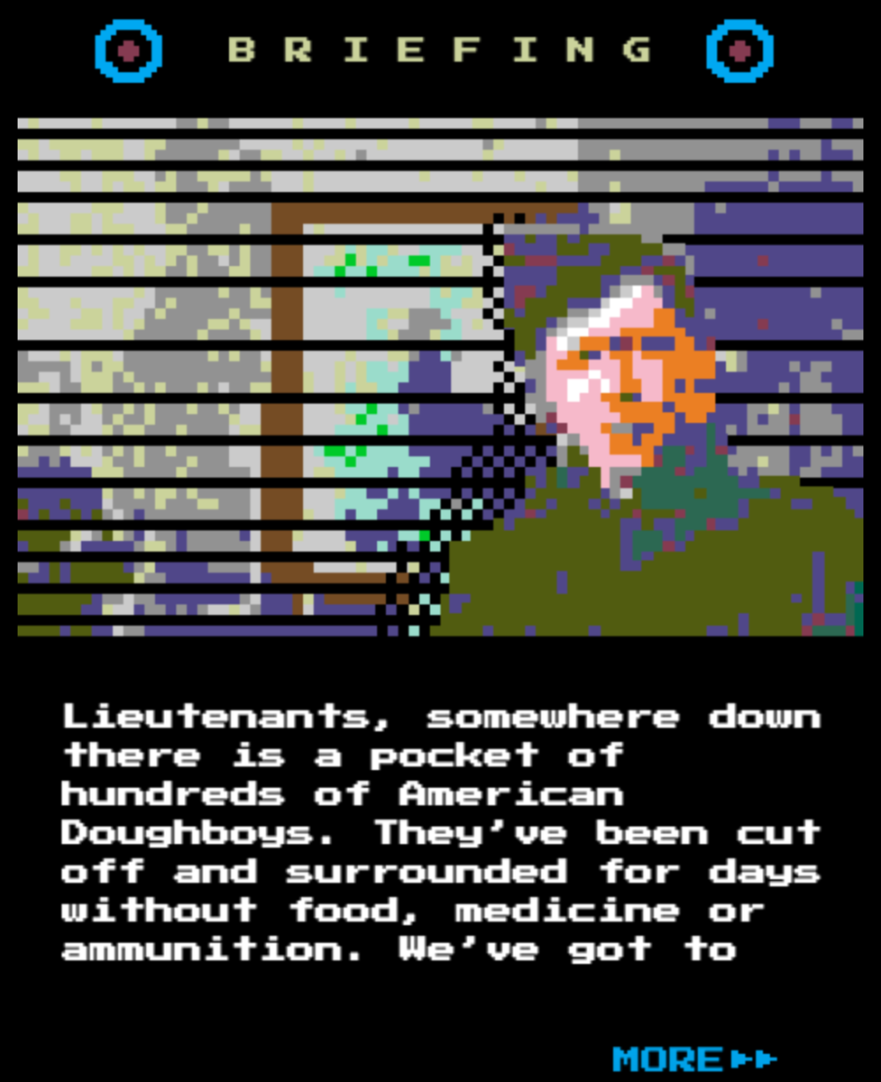 Screen from video game