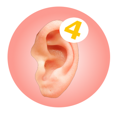 ear with notification