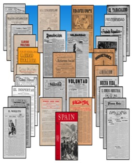 Recovering the US Hispanic Literary Heritage has a microfilm collection of about 1,400 historical newspapers