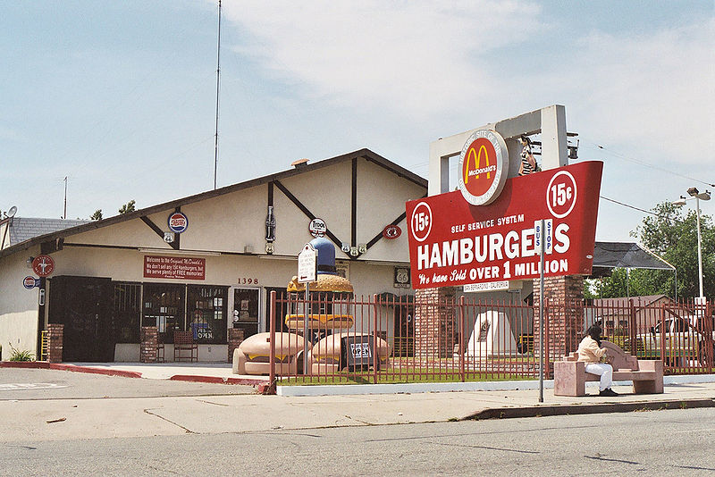 The Original McDonald's in San Bernardino, CA Photo Credit: Cogart Strangehill via Wikimedia Commons