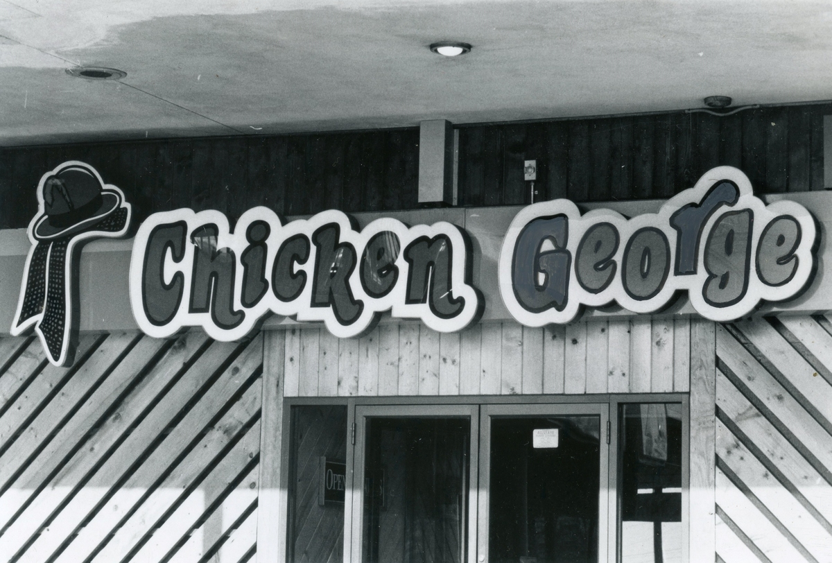 One of the Chicken George restaurants, 1983.
