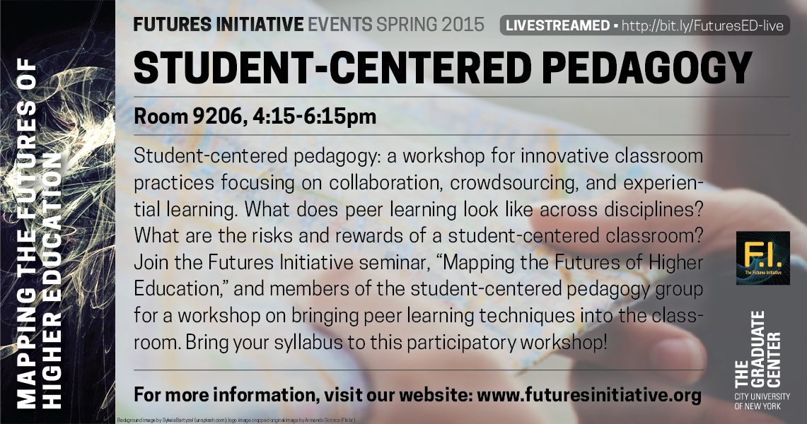 Innovative Classroom Grants ~ March open session on student centered pedagogy