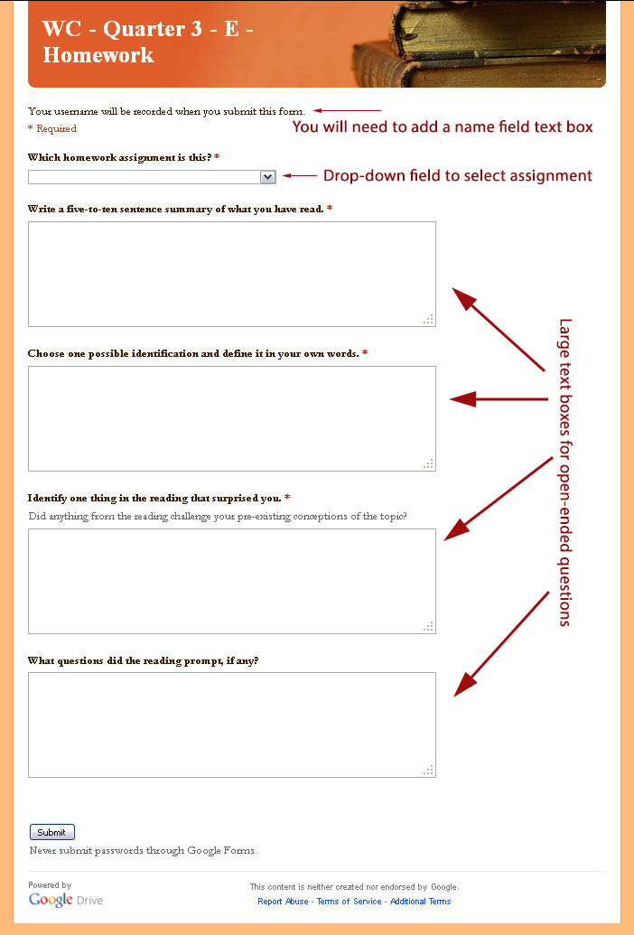 Sample Google Form